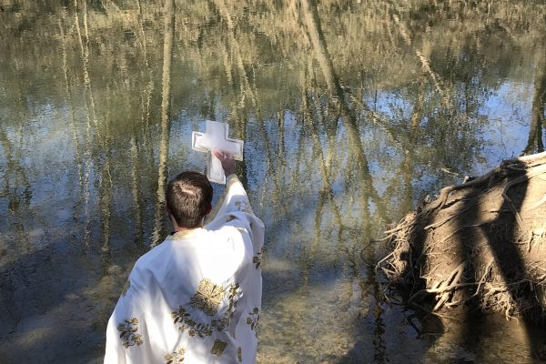 Blessing the Waters at Pinkerton Park