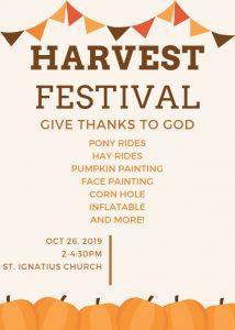 Harvest Festival 2019 Flyer